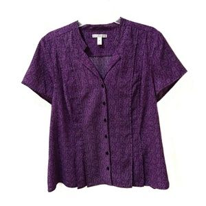 Dana Buchman short sleeve blouse